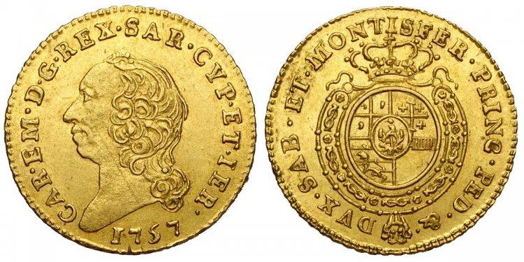 Savoia, Carlo Emanuele III, Mezza ...