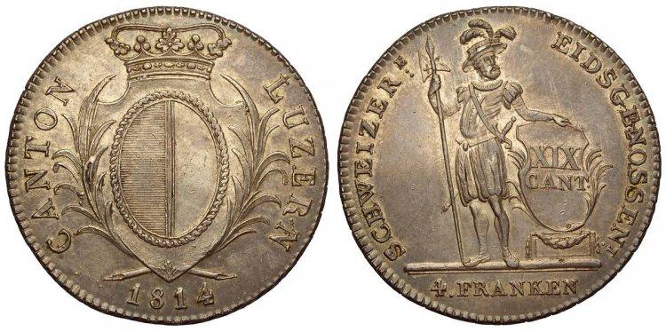 Switzerland, Luzern, 4 Franken ...