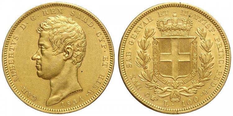 Savoia, Carlo Alberto, 100 Lire ...